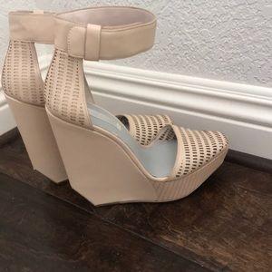 BCBG Max Azria platforms with mirror heel